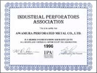 IPA(INDUSTRIAL PERFOORATORS ASSOCIATION)に加盟
